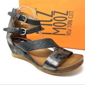 New MIZ MOOZ Millie Sandals 41 9.5 10 black Wedge